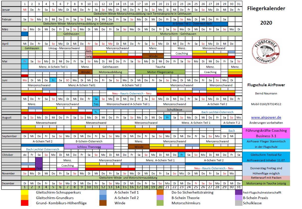 Fliegerkalender2020